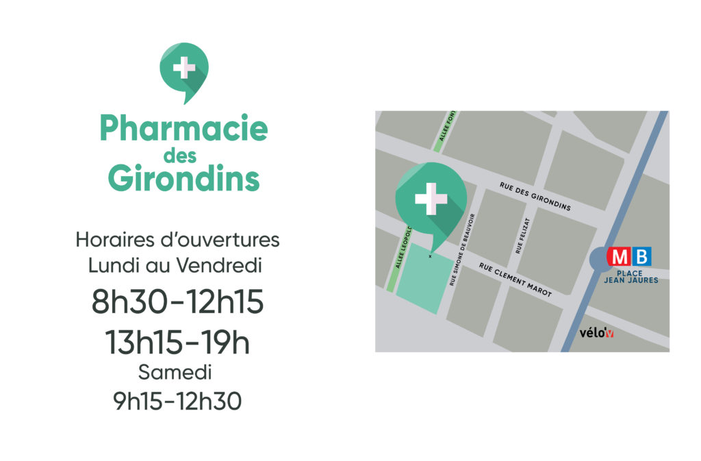 Plan horaires pharmacie des girondins lyon 7
